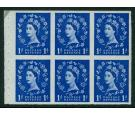 SG571c. 1958 1d Ultramarine Imperforate Pane. Unique...